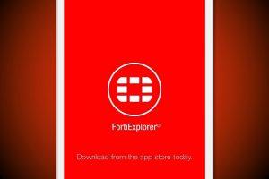 FortiExplorer App for iOS