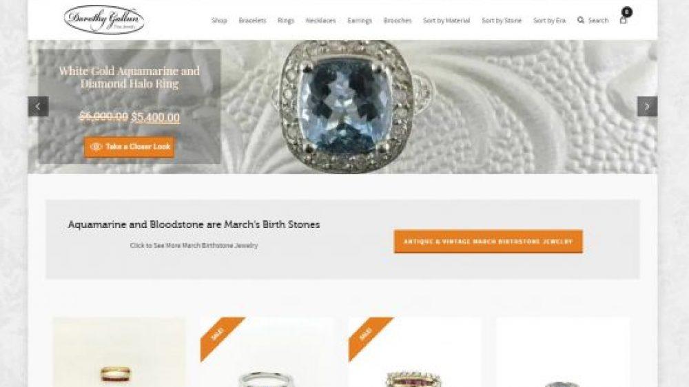 Dorothy Gallun Fine Jewelry E-Commerce Website Design & Webmaster Services