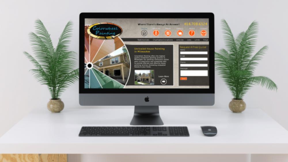 Colorwheel Painting Mobile Responsive Website Design