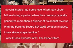 The Paper Store Protects its Expanding Store Footprint with Secure SD-WAN and SD-Branch | Fortinet