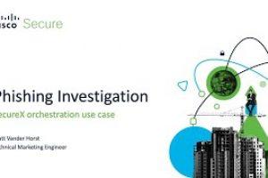 SecureX orchestration – Phishing Investigation Workflow