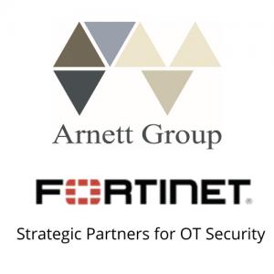 Fortinet and Arnett Group Logos