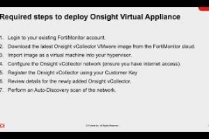 FortiMonitor Onsight vCollector in VMware | Digital Experience Monitoring (DEM) Solution